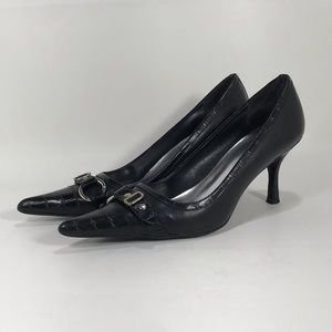 Bakers Consuelo Pointed Toe Black Pumps Sz 9